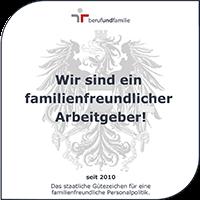 Zertifikat für familienfreundlicher Arbeitgeber